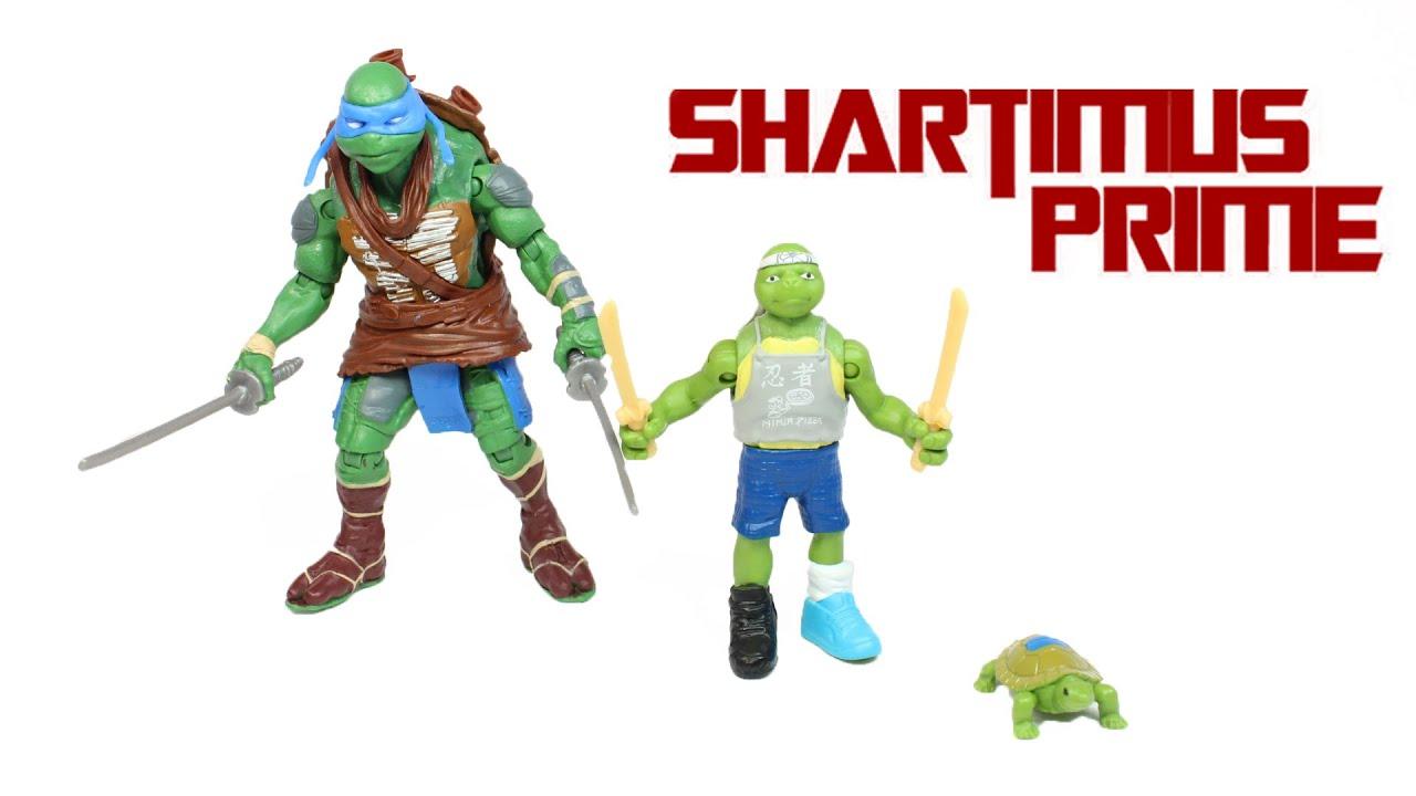 Ninja Turtles 2014 Leonardo Toy Evolution 3 Pack Movie Action