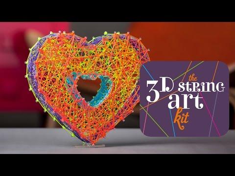 201a55353 Craft-tastic 3D String Art Kit - YouTube