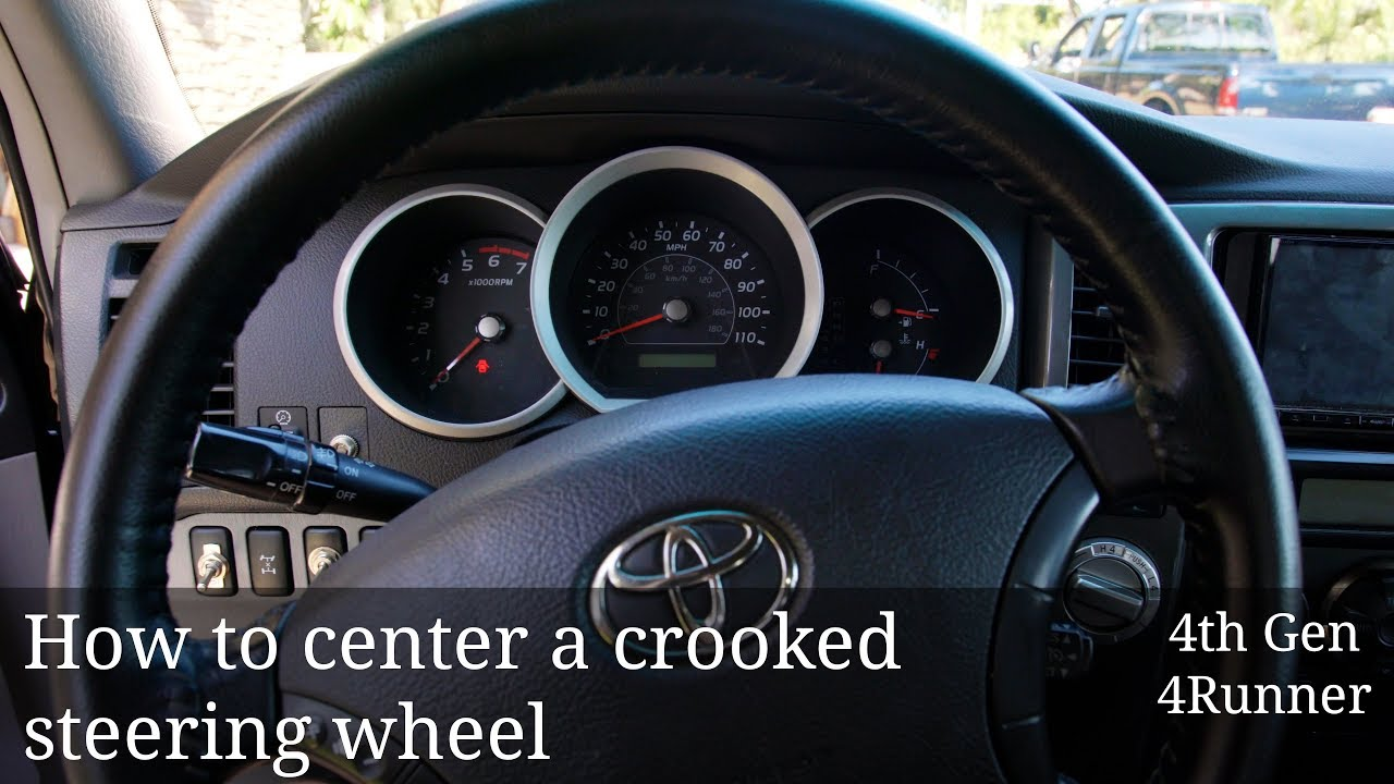 4Runner Trail Premium >> How to Center a Crooked 4Runner Steering Wheel - YouTube