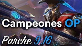 Mejores Picks en Cada Linea - Campeones OP en cada Rol: Parche 9.16 (League of Legends)