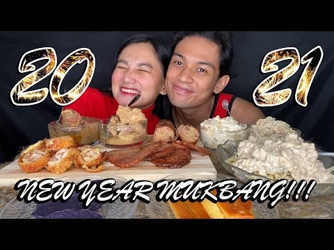 NEW YEAR LEFTOVER MUKBANG 2021!!! carbonara,cordon bleu,ham,morcon,hamonado,chicken macaroni & more!