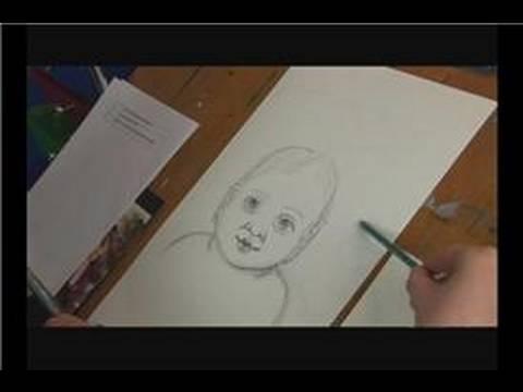 drawing-a-child's-face-:-drawing-a-child's-face:-background-shadowing