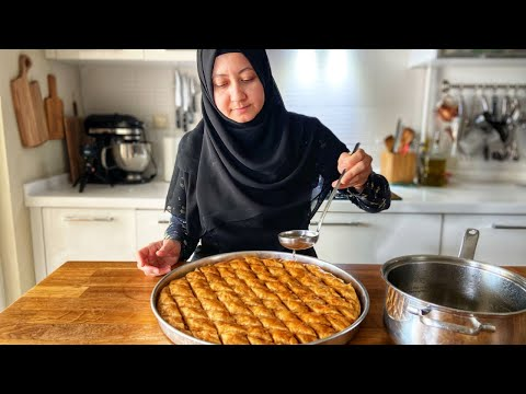 How to Make Baklava From Scratch! Easy Turkish Walnut Baklava With Secrets You Can't Find!