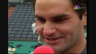 roger federer says agassi was lucky to win the french open