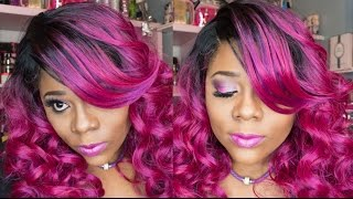 Zury Sis GLAM-H WENDY SOMBRE RT MAGENTA wig review