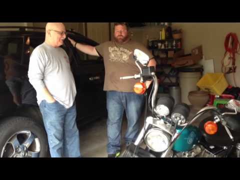 Giving Dad his Surprise Harley!