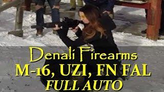 denali firearms full auto fn fal 308 m 16 uzi with suppressor