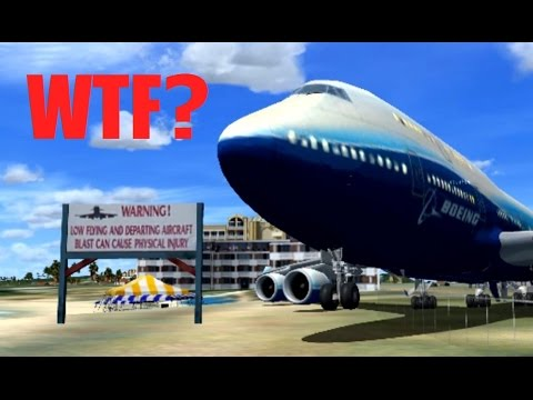 FSX Multiplayer (Steam) IDIOTS Cause CHAOS at TNCM! (St. Maa