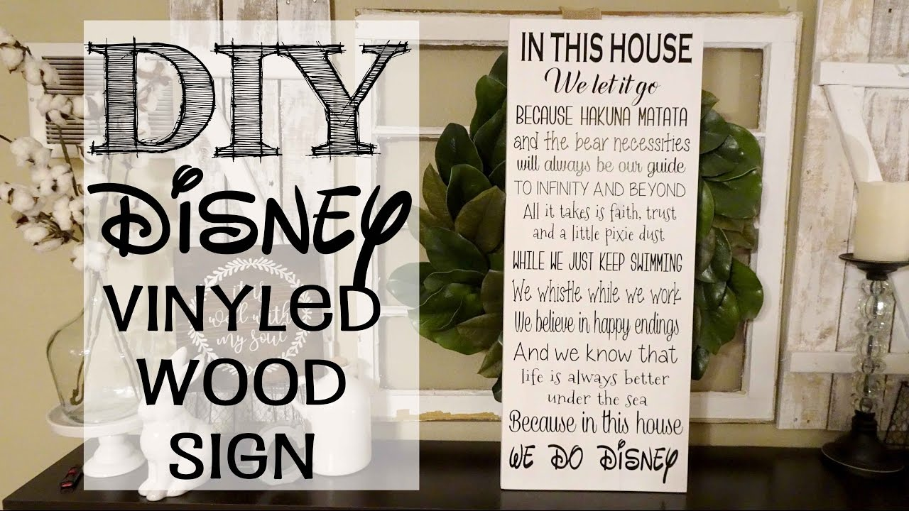 In This House We Do Disney Wood Sign Youtube