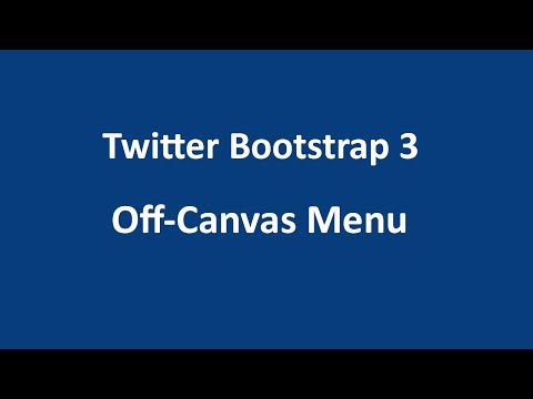 Twitter Bootstrap 3 Tutorial 13 - Off Canvas Menu thumbnail