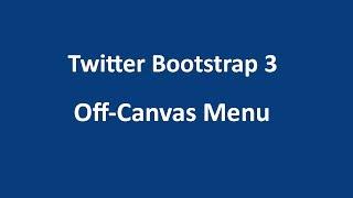 twitter bootstrap 3 tutorial 13 off canvas menu