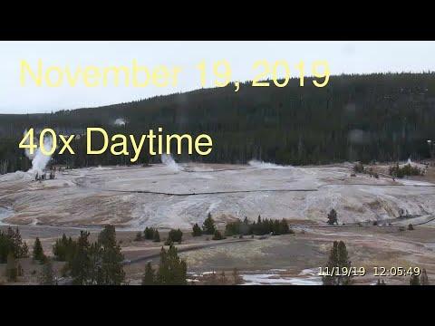 November 19, 2019 Upper Geyser Basin Daytime Streaming Camera Captures