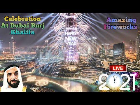 Dubai Happy New Year 2020 | New year Celebration in Dubai | Burj Khalifa Fireworks