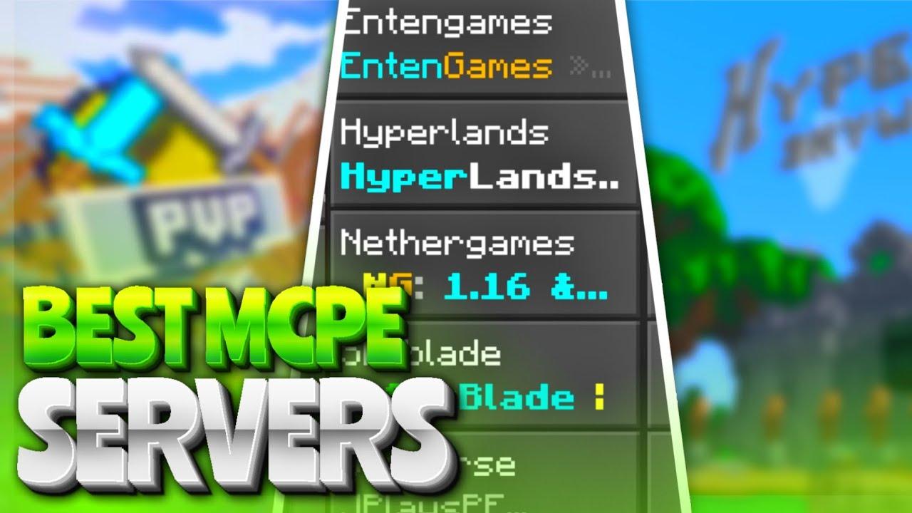 TOP 5 SERVERS in MCPE Minecraft PE 1 16 SERVERS BEST