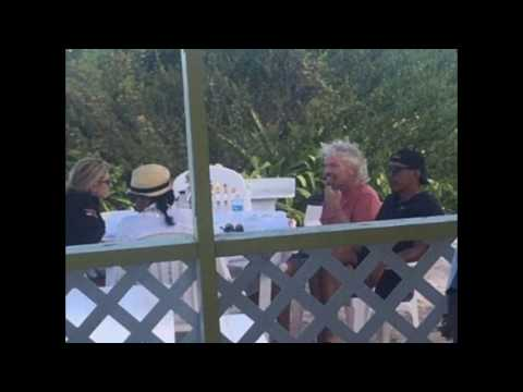 Former President Barack Obama visit neighboring island with billionaire host Richard Branson
