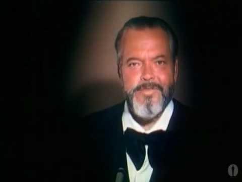 Orson Welles receiving an Honorary Oscar®