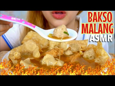 #34 Request ASMR Eating Sounds : BAKSO MALANG | ASMR Indonesia