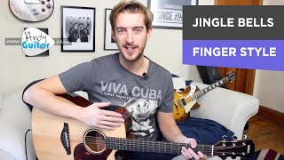 Jingle Bells Fingerstyle Guitar Tutorial For Beginners