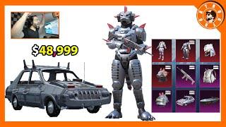 تفتيح صناديق الوحش الآلي و غودزيلا الآلي بقيمة 48,999$ 😍 و توزيع شدات للمشاهدين🎁 PUBG MOBILE