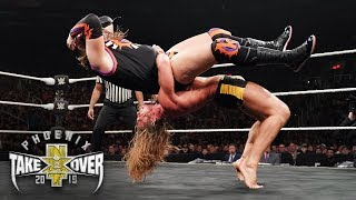 Matt Riddle hurls Kassius Ohno with a mighty German suplex: NXT TakeOver: Phoenix (WWE Network)