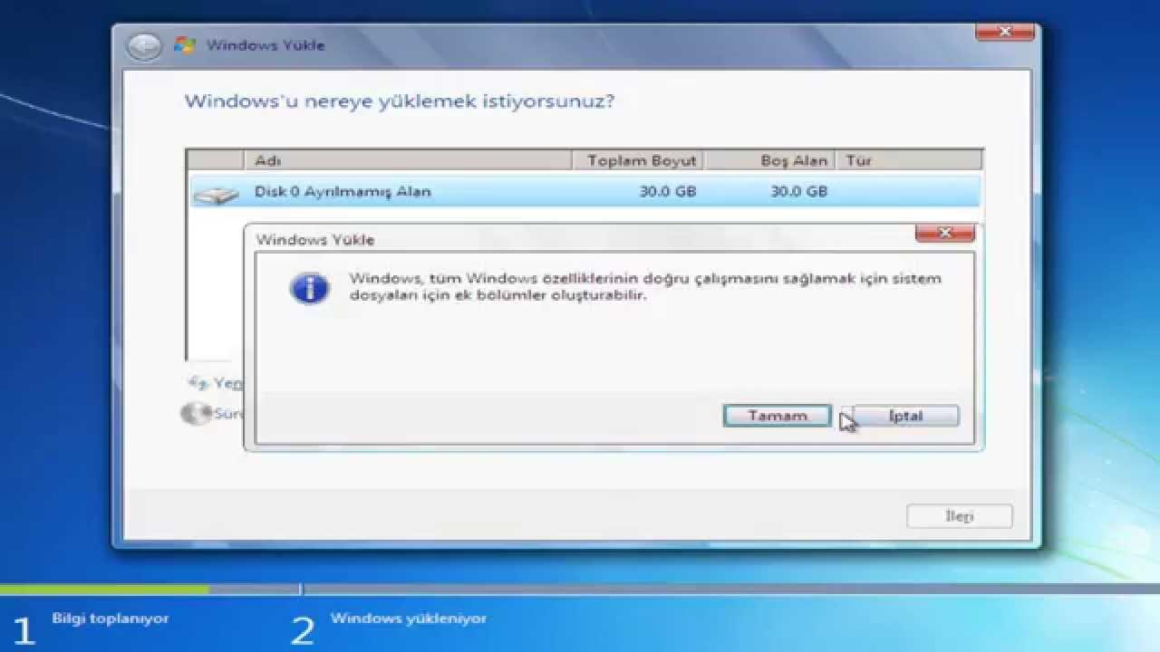 Windows 7 format atma, kayseri web tasarım ajansı mobil uygulama.