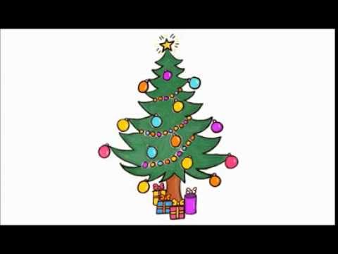 How to Draw a Christmas Tree - YouTube