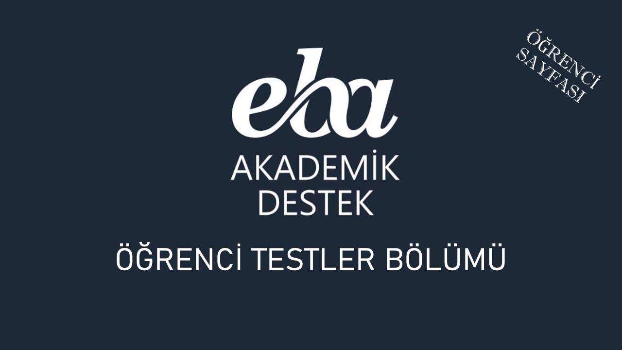 EBA Akademik Destek - Öğrenci Sayfası Tanıtımı