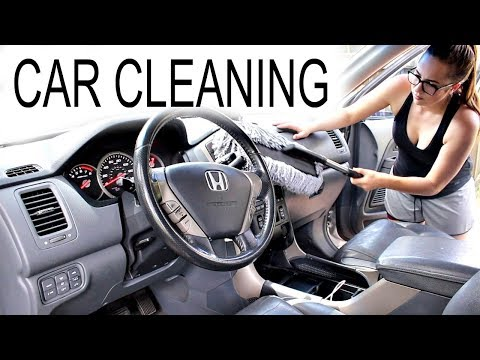 HOW TO CLEAN YOUR CAR! CAR CLEANING HACKS!