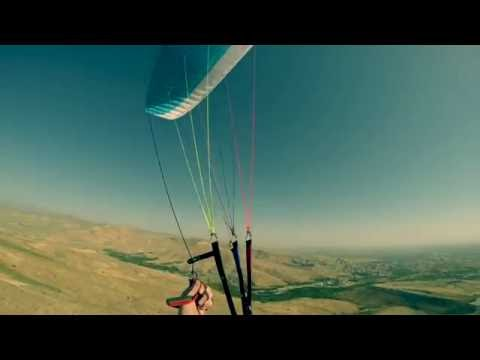 Short Paragliding flight in Urmia, Iran