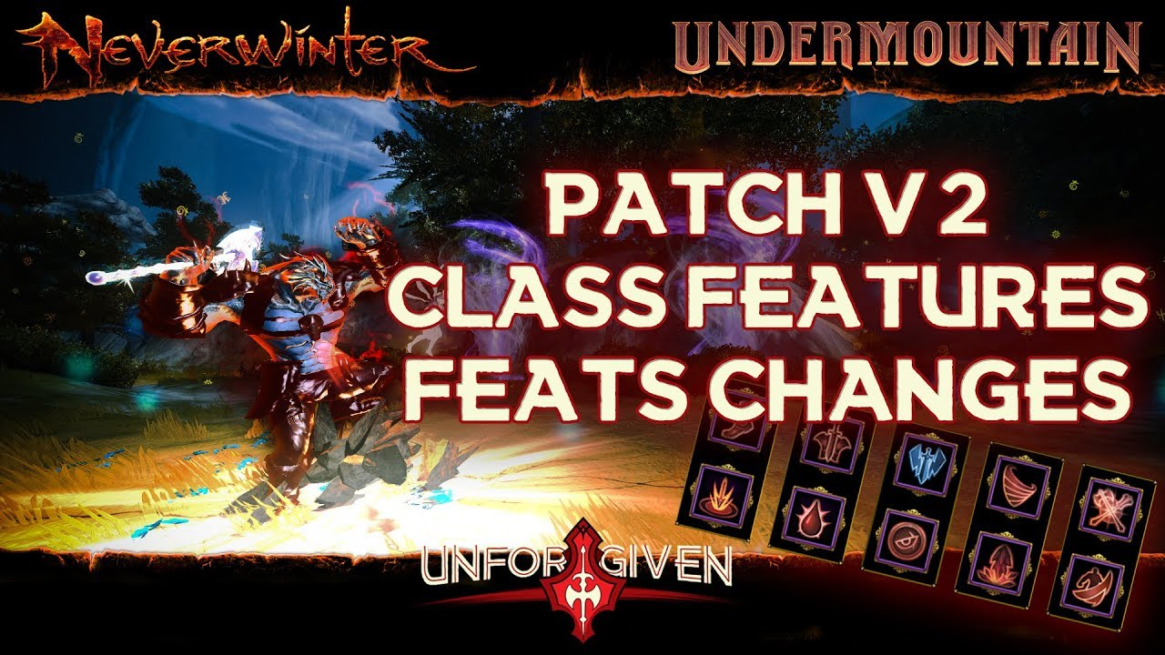 Neverwinter Mod 16 - 2nd Patch Class Features & Feats Changes Barbarian Unforgiven (1080p)