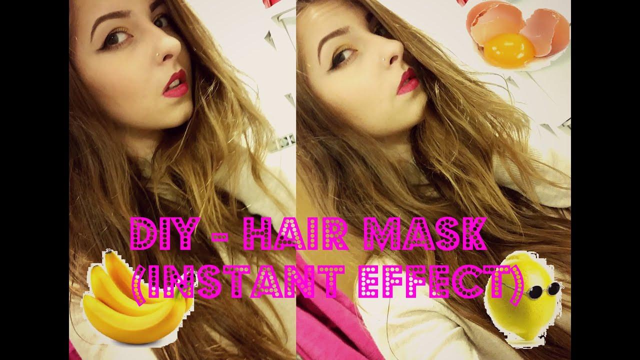 diy - banana hair mask for thin, dull hair (instant effect) - youtube