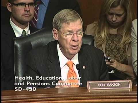 Senator Isakson Opening Remarks at HELP Markup of Sunscreen Innovation Act