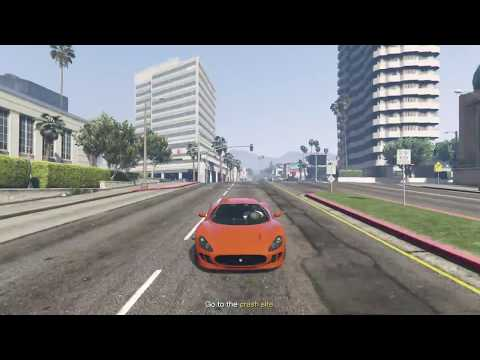 GTA V - couple supply van transports and out to the desert - WAYNE GROW INDUSTRIES RP LP 64