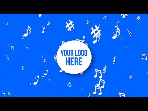 Music Notes Explosion - Your Logo Here / Colorful // Free Motion Graphics