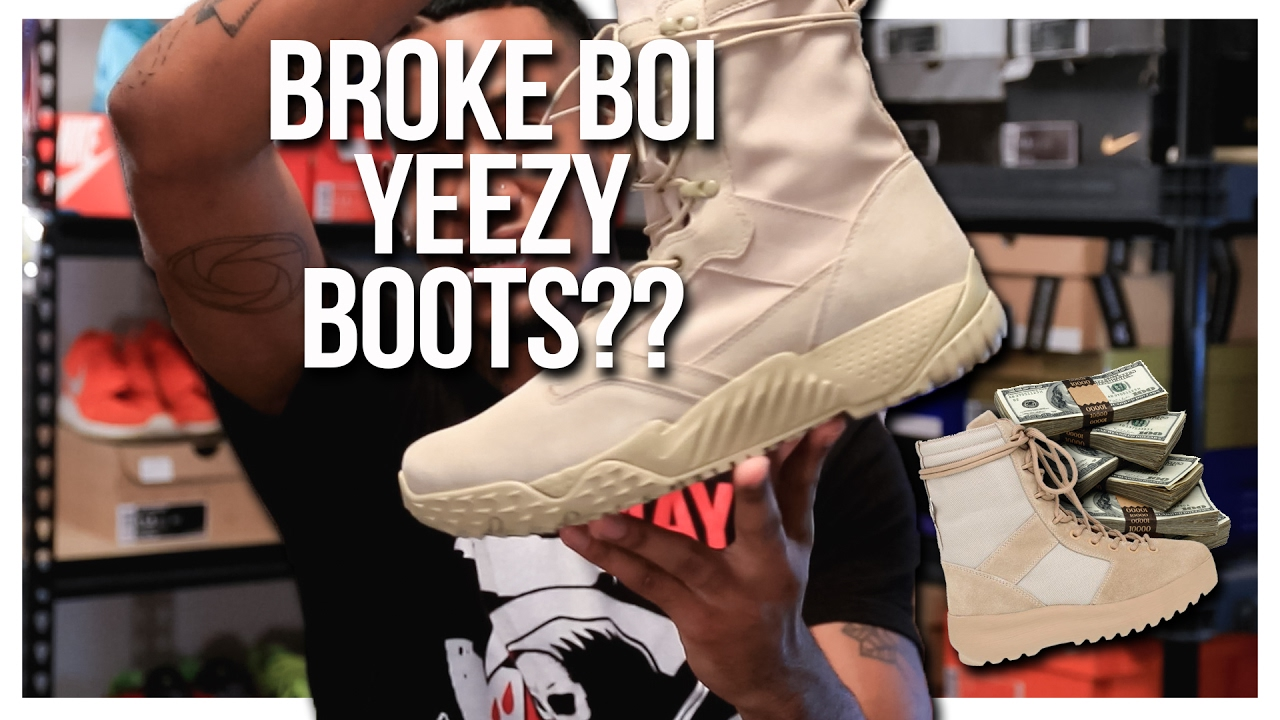 83303037faa22 BROKE BOI YEEZY BOOTS     Under Armour Jungle Rat review - YouTube
