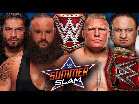 WWE2K17 SummerSlam 2017 Brock Lesnar vs...