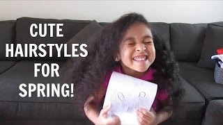 Cute & Easy Hairstyles For Mixed Curly Hair!