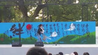 熊本城 二ノ丸広場特設ステージのこけら落とし.