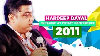 Hardeep Dayal speaking at Estate