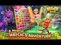 Magic Meadow (mobile match 3 game) JUST GAMEPLAY!