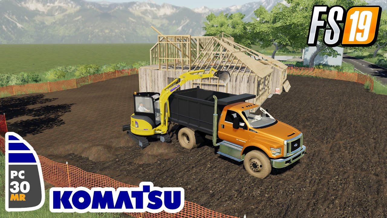 FS19 NEW KOMATSU PC-30MR PUBLIC WORKS SMALL TOWN TP FARMING SIMULATOR 19 MODS