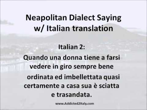 Proverbs In Napolitano Translated Into Italian And English