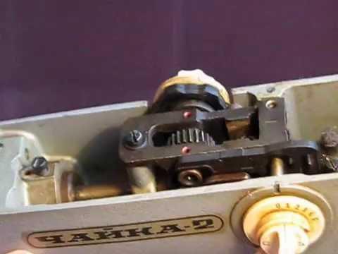 Швейная машина Чайка 134. Намотка шпульки, заправка ниток. Видео № 136.