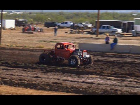 Arizona Mud Racing - Super Modified, Modified & Street Tucson, AZ Pt 2 2015