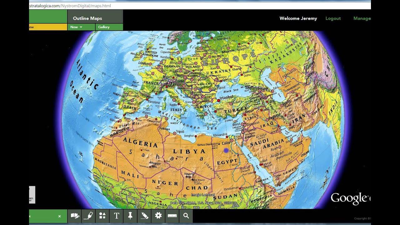 Physical map test NASWA YouTube