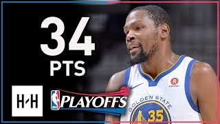 Kevin Durant Full Game 4 Highlights Warriors vs Spurs 2018 Playoffs 34 Points, 12 Reb