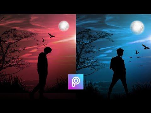 PicsArt Silhouette Night Effect    PicsArt Photo Editing