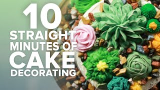 10 Straight Minutes Of Cake Decorating