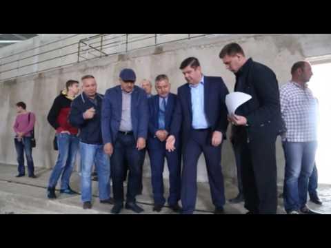 Комиссия на стройке ледовой арены