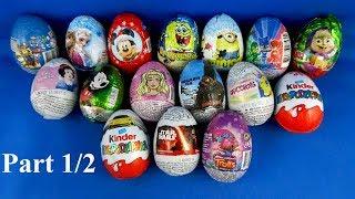 Surprise Eggs Opening Frozen Paw Patrol Trolls Cars Minions SpongeBob PJ Masks Mickey Part 1/2 #193